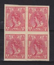 NVPH 82 POSTFRIS in BLOK van 4 Wilhelmina 1923 Orginele gom MNH