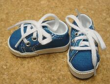 Doll Shoes 63mm DK BLUE Sneakers by Monique Gold (with White accent lining)