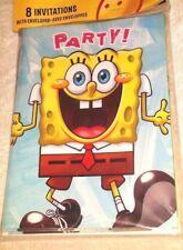Sponge Bob Square Pants Invitations Envelopes Party Accessories Celebrations NIP