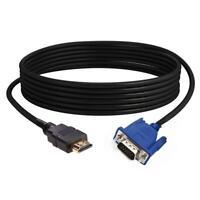 Youn 1,8 m HDMI-Stecker auf VGA-Stecker Kabel HDTV-Projektor 1080P Video-Ad