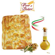 Focaccia ligure genovese bianca 1 kg all'olio extravergine d'oliva  ARTIGIANALE