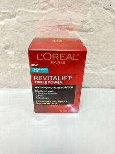 L'Oréal Revitalift Triple Power Anti-aging Moisturizer Cream Fragrance Free.