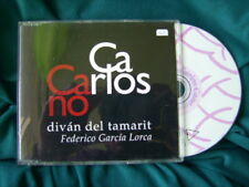 "CARLOS CANO ""DIVAN DEL TAMARIT"" CD SINGLE 2 TRACKS FEDERICO GARCIA LORCA"