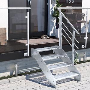 Altona I  4 Stufen- Metalltreppe Gartentreppe  Aussentreppe Gitterroststufen