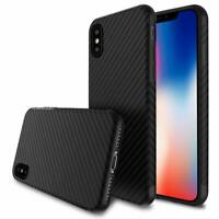 For iPhone X XR XS Max 6 7 8 Plus Carbon Fiber Hybrid Shockproof Soft Case Cover