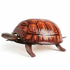 Clockwork tin toy collectable classic Tortoise animal vintage wind up red black
