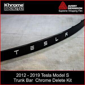 Chrome Delete Kit fitting the 2012-2020 Tesla Model S Rear Chrome Bar