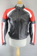AKITO CONCEPTWEAR LEATHER BIKER JACKET + BACK, SHOULDER & ELBOW CE ARMOUR SIZE10
