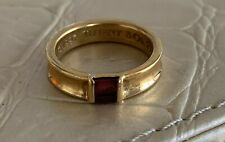 100% Tiffany & Co. Ruby 18k Stackable Ring. Size 5.5