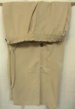 Coldwater Creek Tan Elastic Dawstring Waist Front Pockets Wide Leg Floods Sz 14