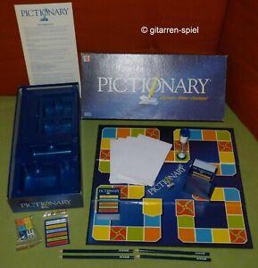 Pictionary® - Komplett Top - Zeichnen Raten Gewinnen Blaue Ausgabe Mattel ©2002
