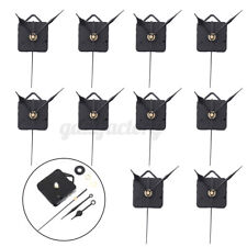 10x Black Hands DIY Quartz Clock Spindle Silent Movement Mechanism Repair