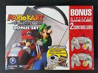 Platinum Nintendo Gamecube Mario Kart DoubleDash bonus w 2 controllers sealeD
