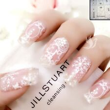 Christmas Nail Art Wrap Full Cover Stickers Snowman Transparent #06075CFree P&P