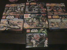 STAR WARS LEGO BATTLE PACKS SEALED LOT OF 7 75079 75001 75036 9489 7668 MINIFIGS