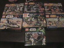 STAR WARS LEGO BATTLE PACKS SEALED LOT OF 7 75079 75001 75036 9489 7668 MINIFIGS