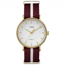 Timex Women's Watch Weekender Fairfield Quartz White Dial Nylon Strap TW2P98100