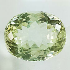 REAL 32.00 CT OVAL SHAPE YELLOW GREEN COLOR 100% NATURAL KUNZITE / SPODUMENE