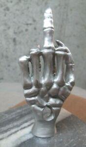 rare skeleton hand  middle finger fuk you motorcycle  hotrod car hood ornament