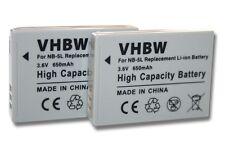 2x BATERIA PARA CANON NB-5L NB5L NB5LH 5LH Li-Ion