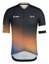 Rapha Tour For All Midweight Jersey Size M Zwift Black And Orange