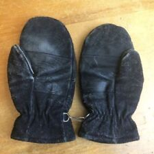 Accessoires vintage noirs unisexe adulte en cuir