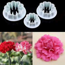Cake Decorating Supplies Fondant Sugarcraft Mold Carnation Flower Plunger Tools
