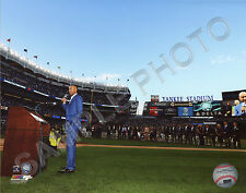 Derek Jeter Addresses the Crowd Number Retirement Ceremony NY Yankees 8x10 Photo