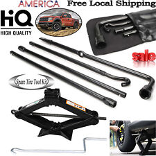 For 2004-2014 Ford F-150 Spare Tire Tools Kit Scissor Jack + Lug Wrench Portable