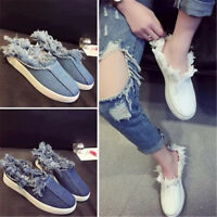 Fashion Chic Womens Flats Mules Tassel Sneakers Slippers Loafers Shoes Slip on