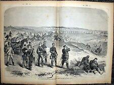 BATAILLE DE GRAVELOTTE attaque Saxe Sainte-Marie-aux-Chênes Gravure sur bois 1871