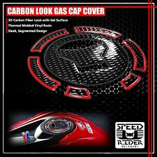 13-20 CB 500/CBR 500/650F PERFORATE BLACK&CHROME RED GAS CAP FUEL LID COVER PAD