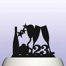 Numero IN ACRILICO Qualsiasi Età Compleanno BALLOON & STARS Cake Topper per MAN & WOMAN