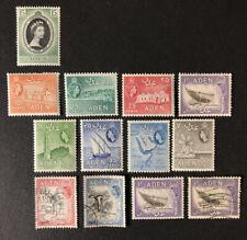 1953-54 Aden Scott# 47-55A, 57-58