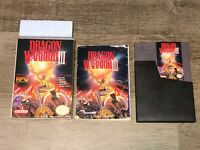 Dragon Warrior III 3 Nintendo Nes Complete CIB Excellent Condition Authentic
