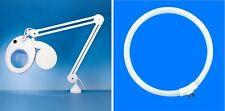 Desktop Illuminated Magnifier Lamp Long Reach Needlework Electronics Craft