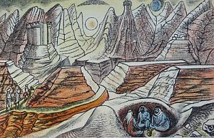 Edward Bawden RA (1903-1989) Original Lithograph 1949 (lk Eric Ravilious).