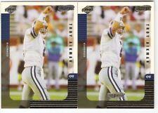 TROY AIKMAN (2 CARD LOT) 1999 COLLECTOR'S EDGE GOLD INGOT #31 DALLAS COWBOYS HOF