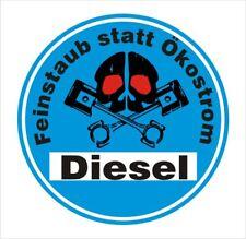 2 x Blaue Plakette Diesel Feinstaub Autoaufkleber Tuning Sticker Nr. 7533-3
