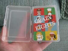 NEW CRAZY 8's PLAYING CARDS CLASSIC NOVELTY GAME W/CASE