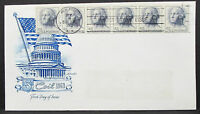 US Artmaster Cachet Cover FDC NY Stripe of 6 Stamps USA Ersttagsbrief (H-7281