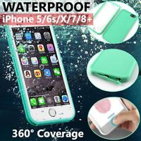 Waterproof Dirt Shockproof Thin Tough Case Cover For Apple iPhone 8 7 Plus X 6 5