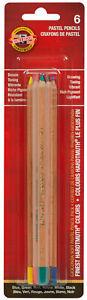 Koh-I-Noor Gioconda Soft Pastel Pencils 6 Hardtmuth Smooth Vibrant Colors