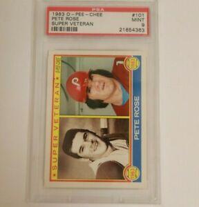 1983 O-Pee-Chee Pete Rose Super Veteran Cincinnati Reds #101 PSA 9