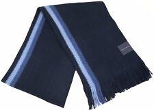 TOMMY HILFIGER Men's Striped Long Knit Scarf Muffler - Navy Blue / Light Blue