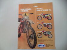 advertising Pubblicità 1979 MOTO SWM 125 250 TRIAL/CROSS/REGOLARITA'