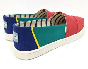 TOMS Women's Venice Alpargata Shoes Multi Color Heritage Canvas Cupsole Size 8.5