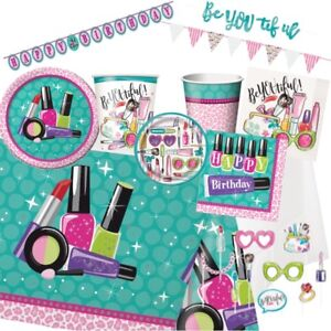 Spa Make-up Pamper Girl's Night Birthday Party Supplies Tableware & Decorations