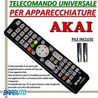 TELECOMANDO UNIVERSALE PER APPARECCHI MARCA AKAI  - INVIARE MODELLO TV O DECOD