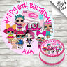LOL DOLLS EDIBLE BIRTHDAY CAKE TOPPER DECORATION PERSONALISED